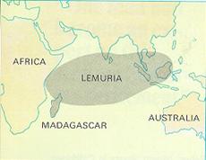 Lemuria elhelyezkedése